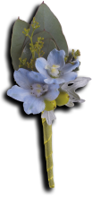 Hero\'s Blue Boutonniere