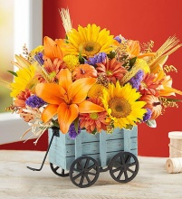 A Harvest Hayride Flower Arrangement