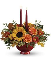 EARTHY AUTUMN CENTERPIECE