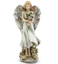 Angel Holding Flower Bouquet
