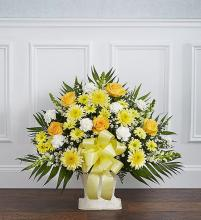 Heartfelt Tribute? Floor Basket- Yellow