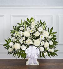 Heartfelt Tribute? Floor Basket- White
