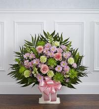 Heartfelt Tribute? Floor Basket- Pastel