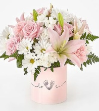 Tiny Miracle New Baby Girl Bouquet - VASE INCLUDED