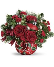 Teleflora\'s Deck The Holly Ornament Bouquet