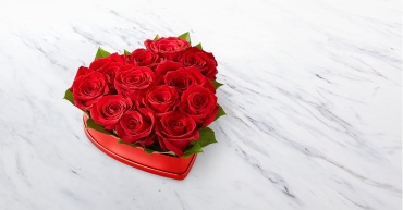 Lovely Red Rose Heart  Box