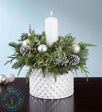 Real Simple? Winter White Centerpiece