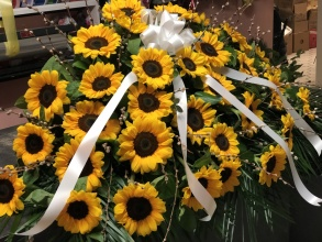 sunflowers casket
