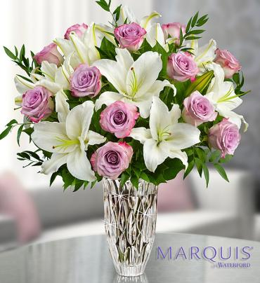 Marquis by Waterford? Purple Rose & Lily Bouquet